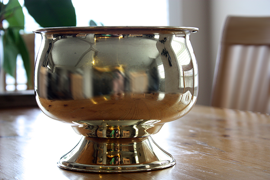 Brass Urn after Polishing