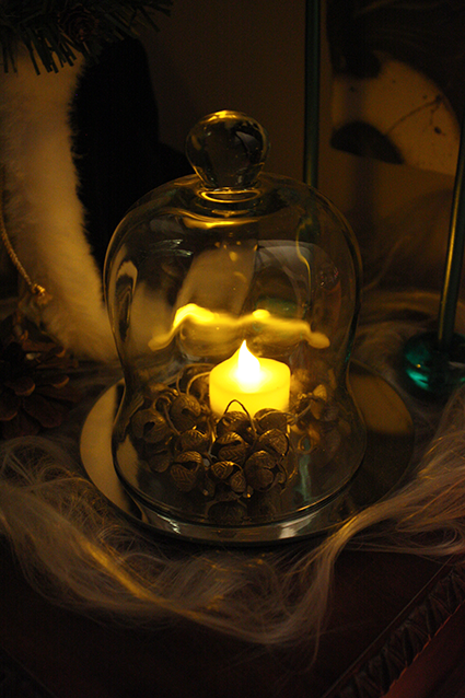 Glass Cloche & Vintage Jingle Bells