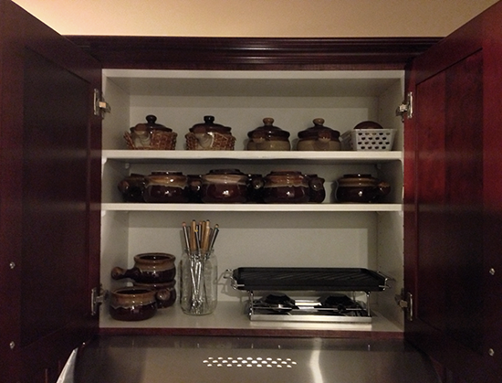 Organizing: Adding Shelving to Poorly Used Spaces