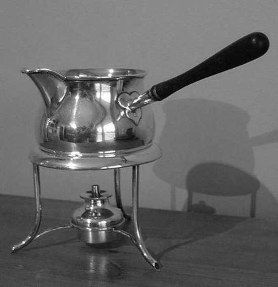 Scottish Silver Brandy Pan & Warmer c1904-05