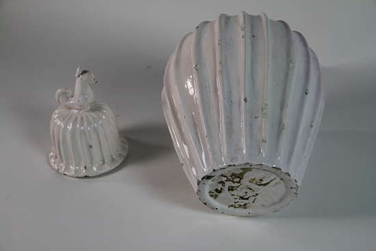 1st Dibs - White Glazed French Jar &amp; Cover, c.1940s