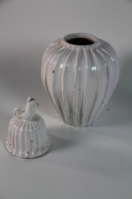 1st Dibs - White Glazed French Jar & Cover, c1940s