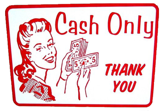 Cash Only Sign - Etsy - Cinda Shop
