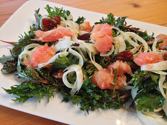 Kale, Grapefruit & Fennel Salad