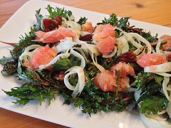 Kale, Grapefruit & Fennel Salad