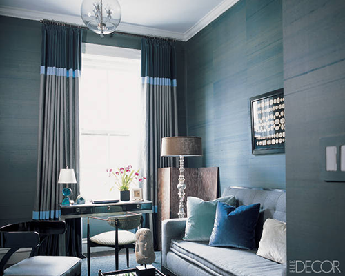 Velvet Drapes - Elle Decor