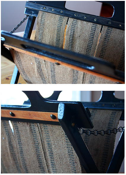 Upholstery Webbing to DIY Magazine Stand