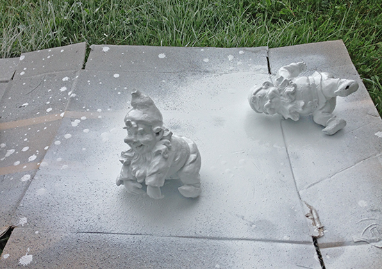Painting Garden Gnomes