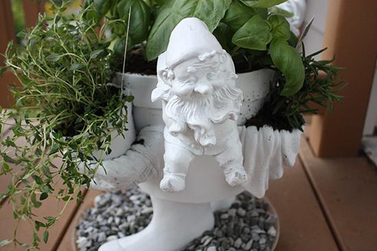 White Garden Gnome