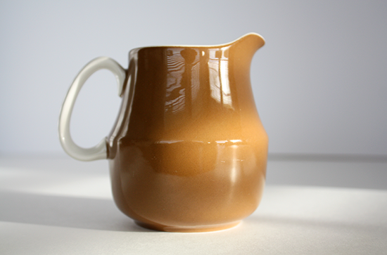 Mikasa Cera Stone Creamer by Jonas Roberts, c.1960s, D1800 Brown