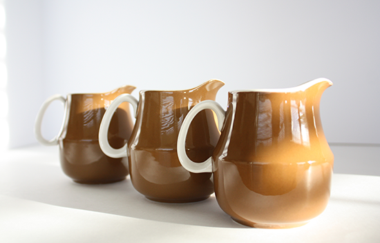 Mikasa Cera Stone Creamers by Jonas Roberts, c.1960s, D1800 Brown