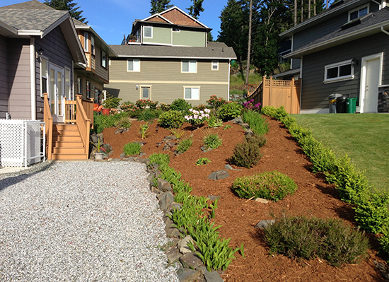 Garden with New Mulch
