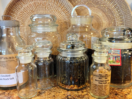 Thrifted Apothecary Jars & Glass Canisters