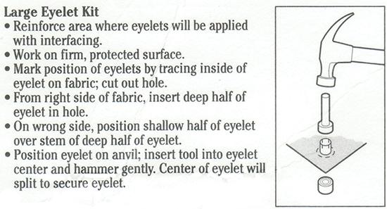 Installing Eyelet Instructions