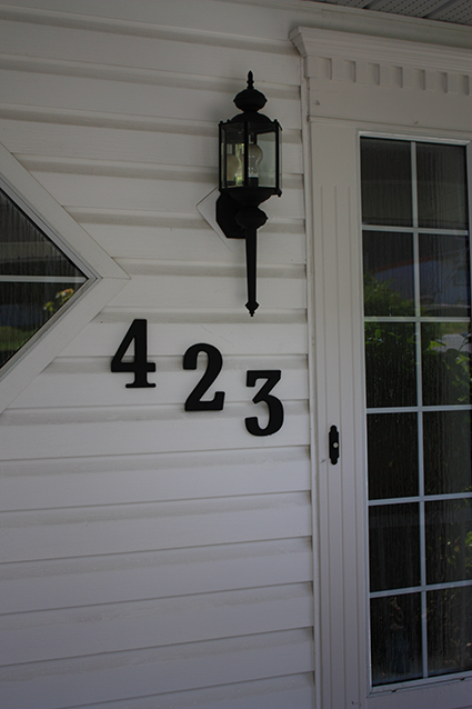 Lanterns, House Numbers - After