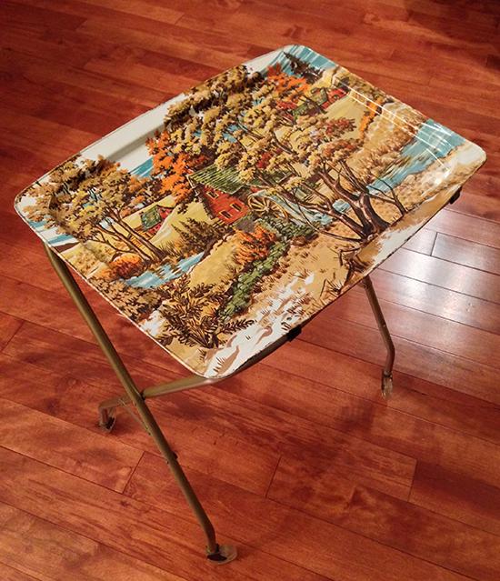 LaVada TV Table - Old Mill Scene