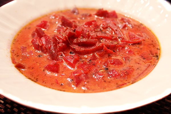 Bowl of Christmas Borscht