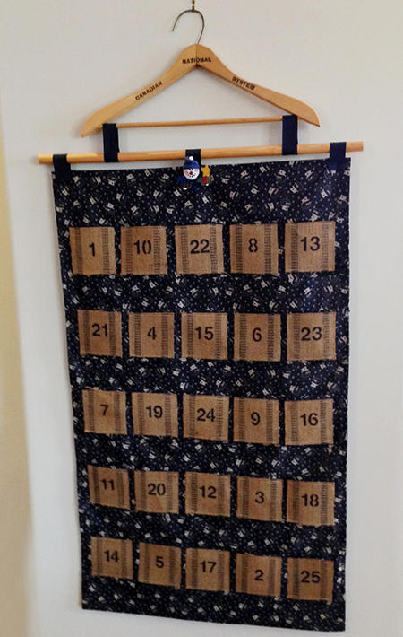 DIY Advent Calendar With Vintage Supplies