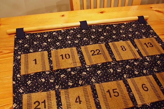 Vintage Upholstery Webbing Advent Calendar