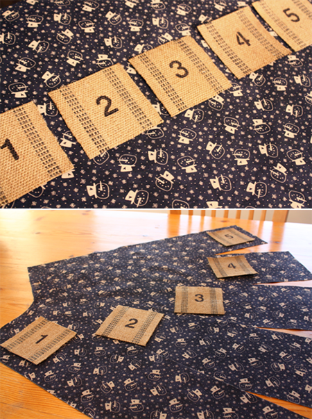 Upholstery Webbing Advent Calendar - Pockets & Backing