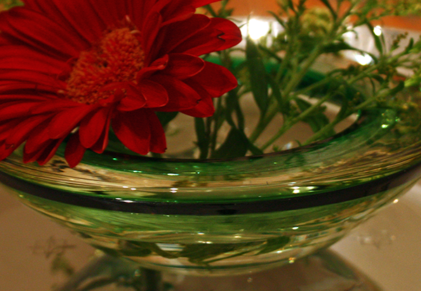 Green Swirl Murano Glass Ashtray 2