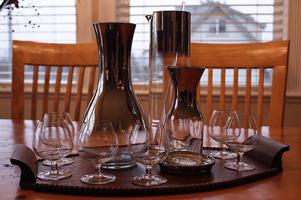 Ombre Barware as Vases