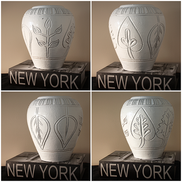 Faux MCM Vase - After - All Sides Collage