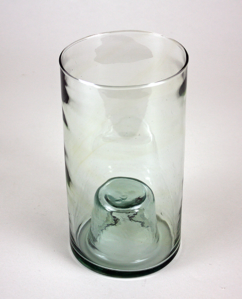 Chunky Glass Votive Holder turned Vase
