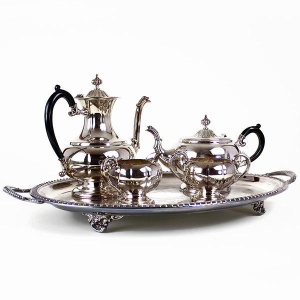 Coffee & Tea Service, Haddon Hall Silver Plate, 5-pc