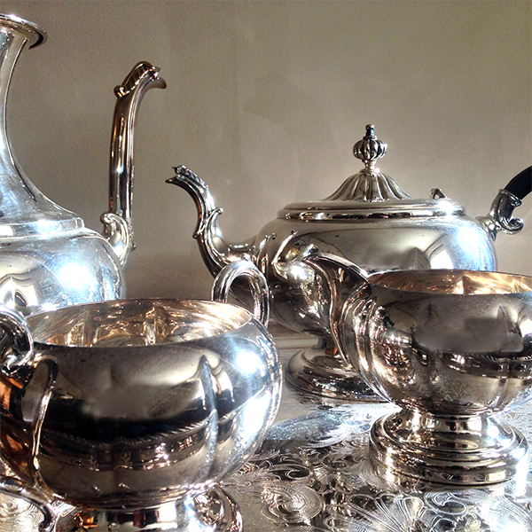 Haddon Hall Silver Plated Coffee & Tea Service (1)
