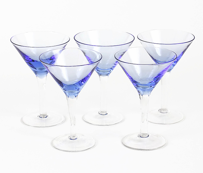 Periwinkle Blue Martini Glasses