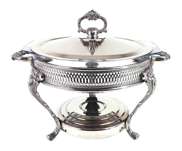 Marinex Silver Plate Chafing Dish, Brazil