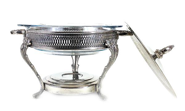 Marinex Silver Plate Chafing Dish, Brazil (2) 600w