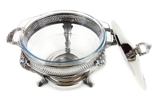 Marinex Silver Plate Chafing Dish, Brazil (3) 600w