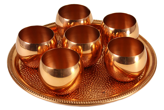 BAR-3079-SZ Coppercraft Guild Roly Poly & Tray Set (2)