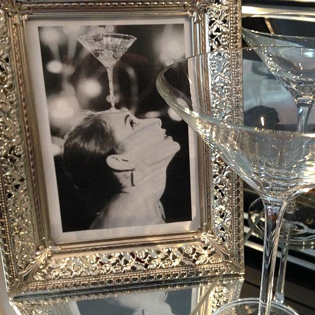 Audrey Balancing a Martini Prep
