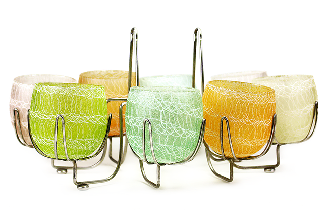 Shat-R-Pruf Spaghetti String Cocktail Glasses