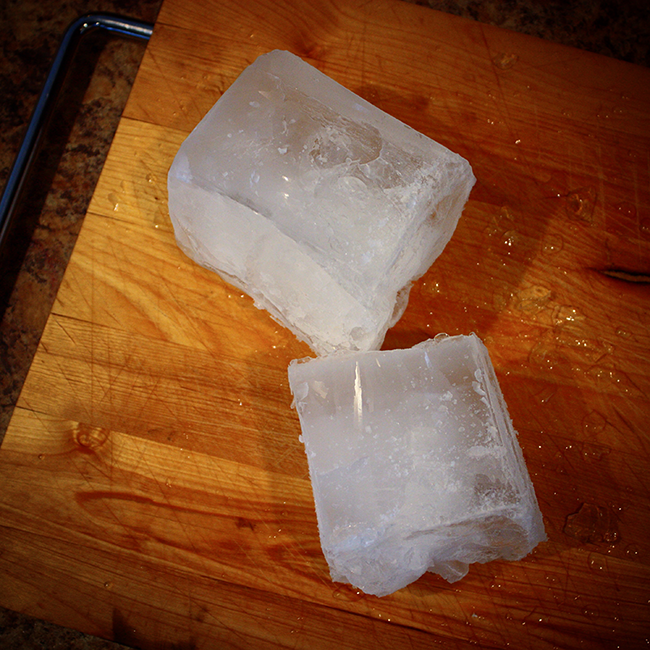 Hand Carved Ice Cubes (Audrey Would!)