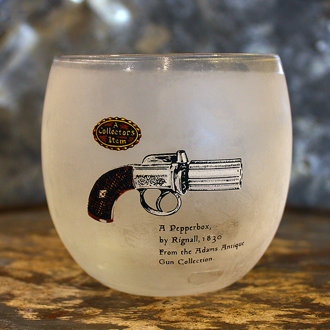 Pepperbox Handgun Roly Poly Bar Glass,  Audrey Would!