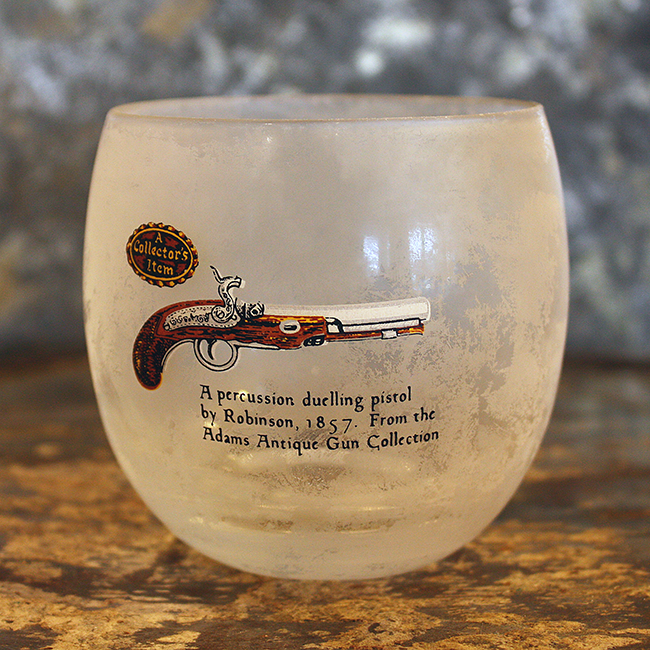 Percussion Handgun Roly Poly Bar Glass, Audrey Would!