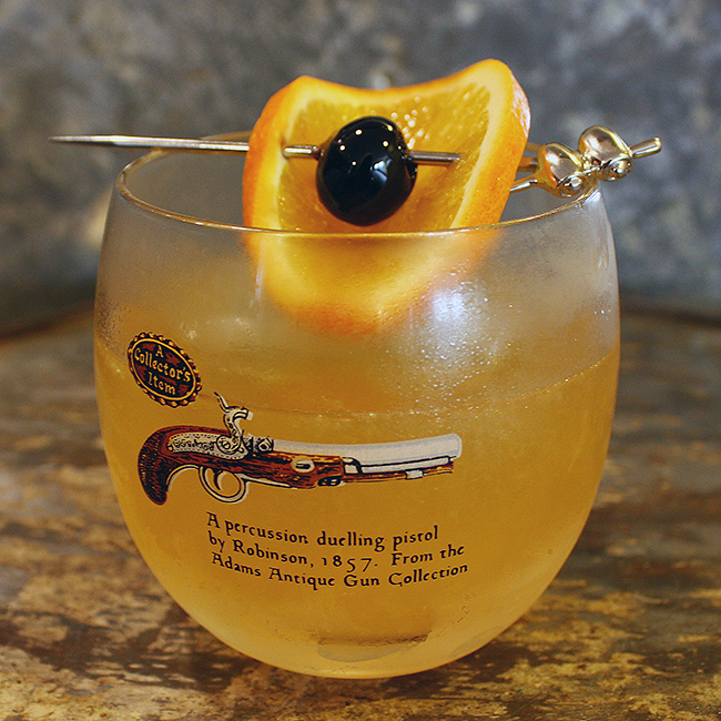 Whiskey Sour, Collectible Roly Poly Pistol Glasses, Audrey Would!