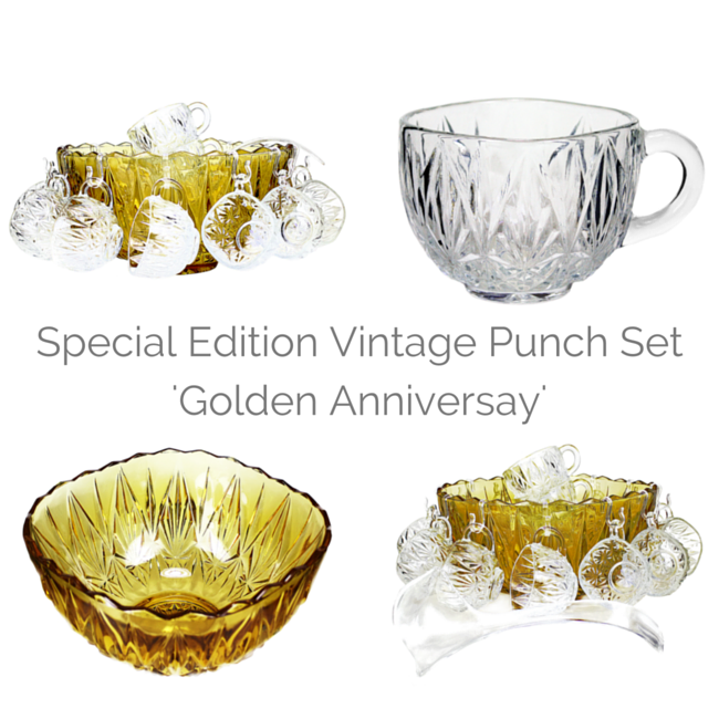 A special edition Mid Century punch set , 'Golden Anniversary' by Champion.
