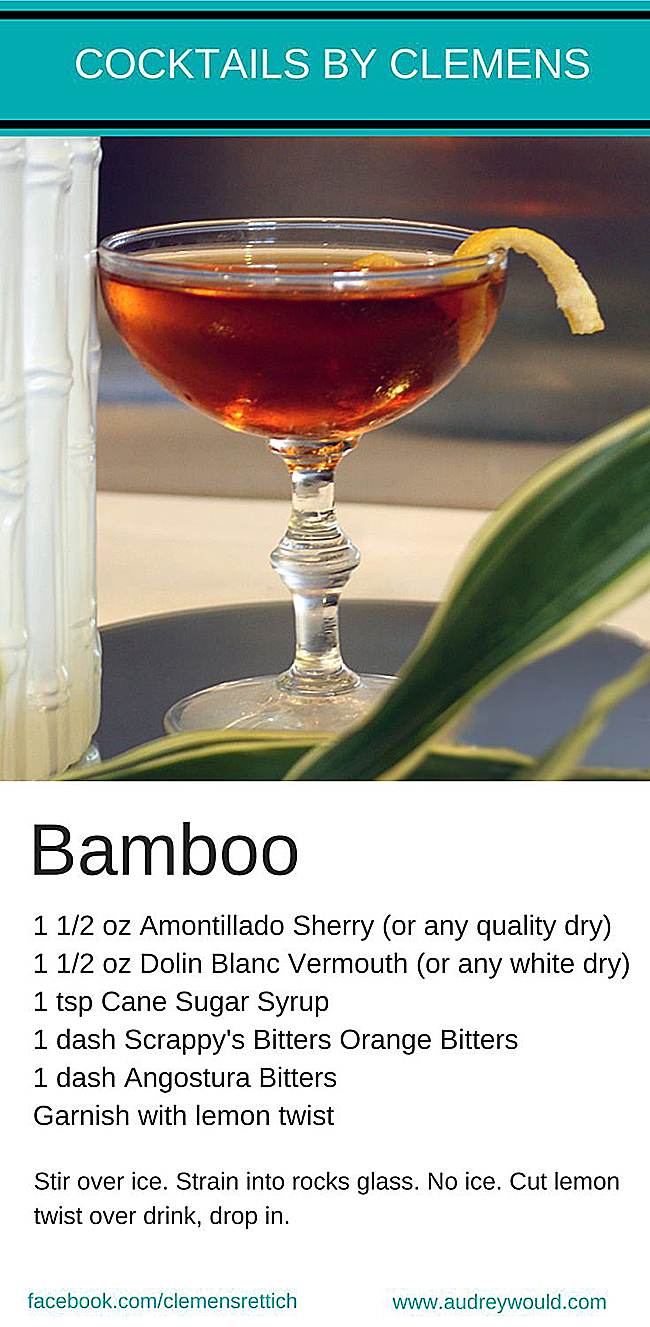 Bamboo Cocktail by Clemens