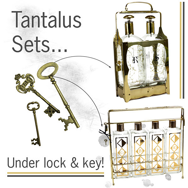 Vintage Tantalus Sets: Keep Your Spirits Under Lock & Key!