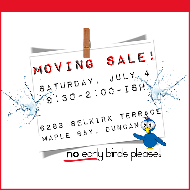 Moving Sale Ad