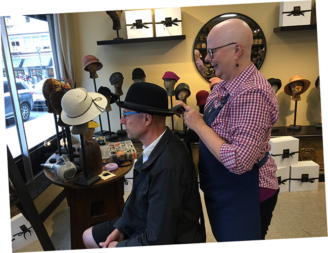 Porkpie Hat Fitting (3-3)