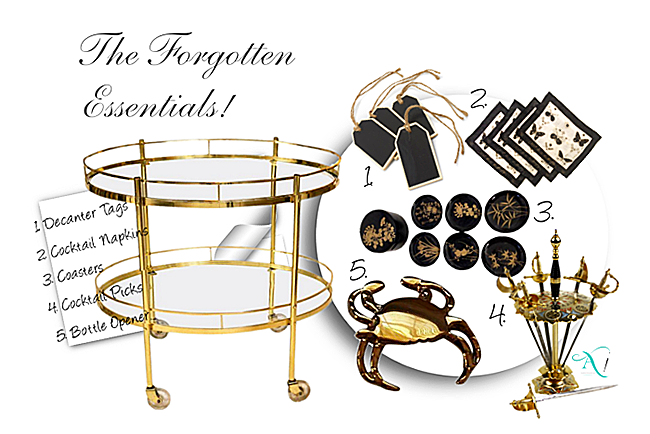 Bar Carts - 5 Forgotten Essentials