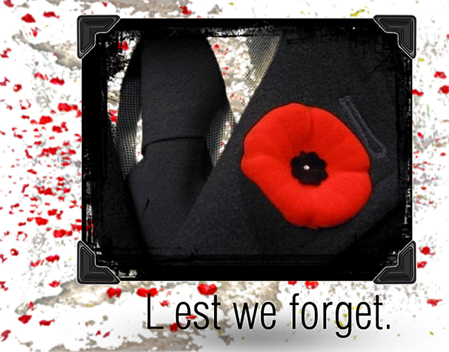 Lest We Forget Nov-11-15