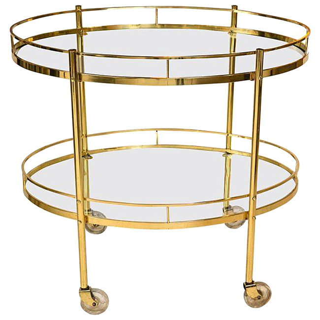 Sheila Zeller Interiors - Brass Bar Cart