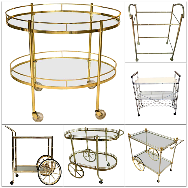 Brass Bar Carts